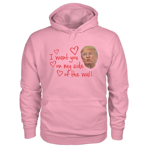 Image of I Want You On My Side Of The Wall Hoodie - Classic Pink / S - Hoodies