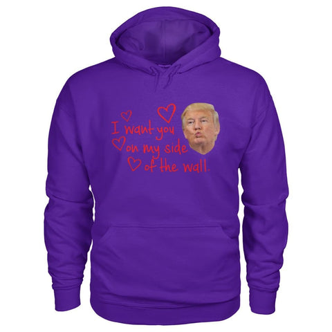 Image of I Want You On My Side Of The Wall Hoodie - Purple / S - Hoodies