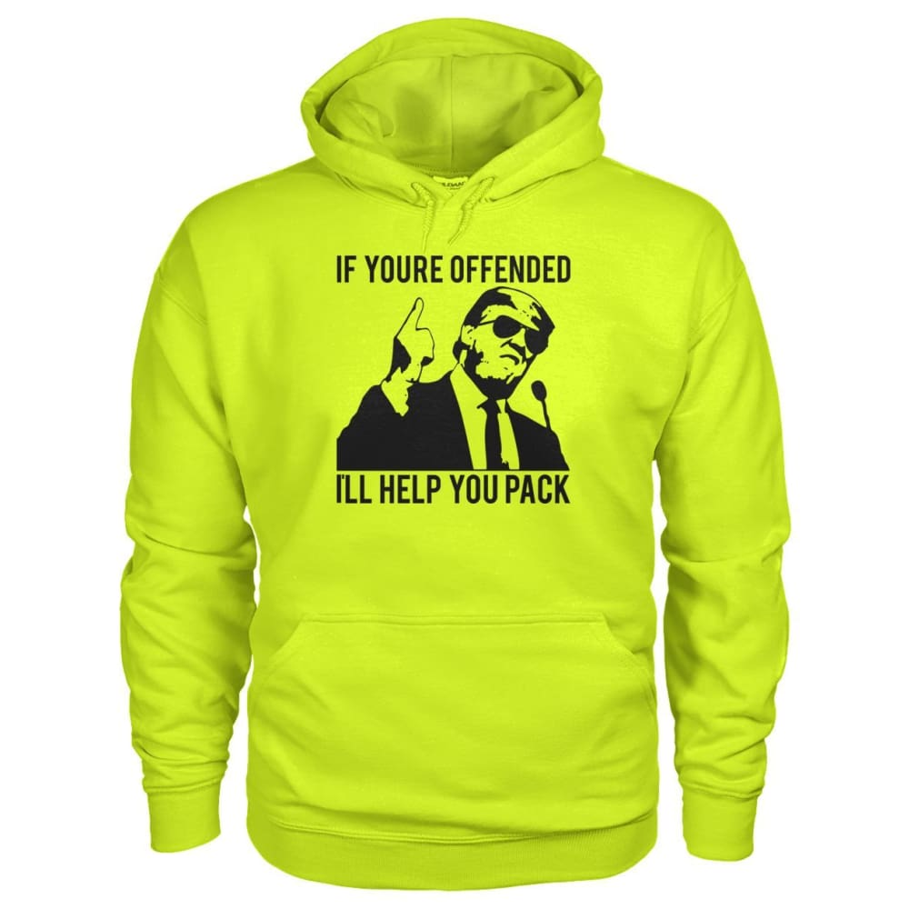 Ill Help You Pack Trump Hoodie - Safety Green / S - Hoodies