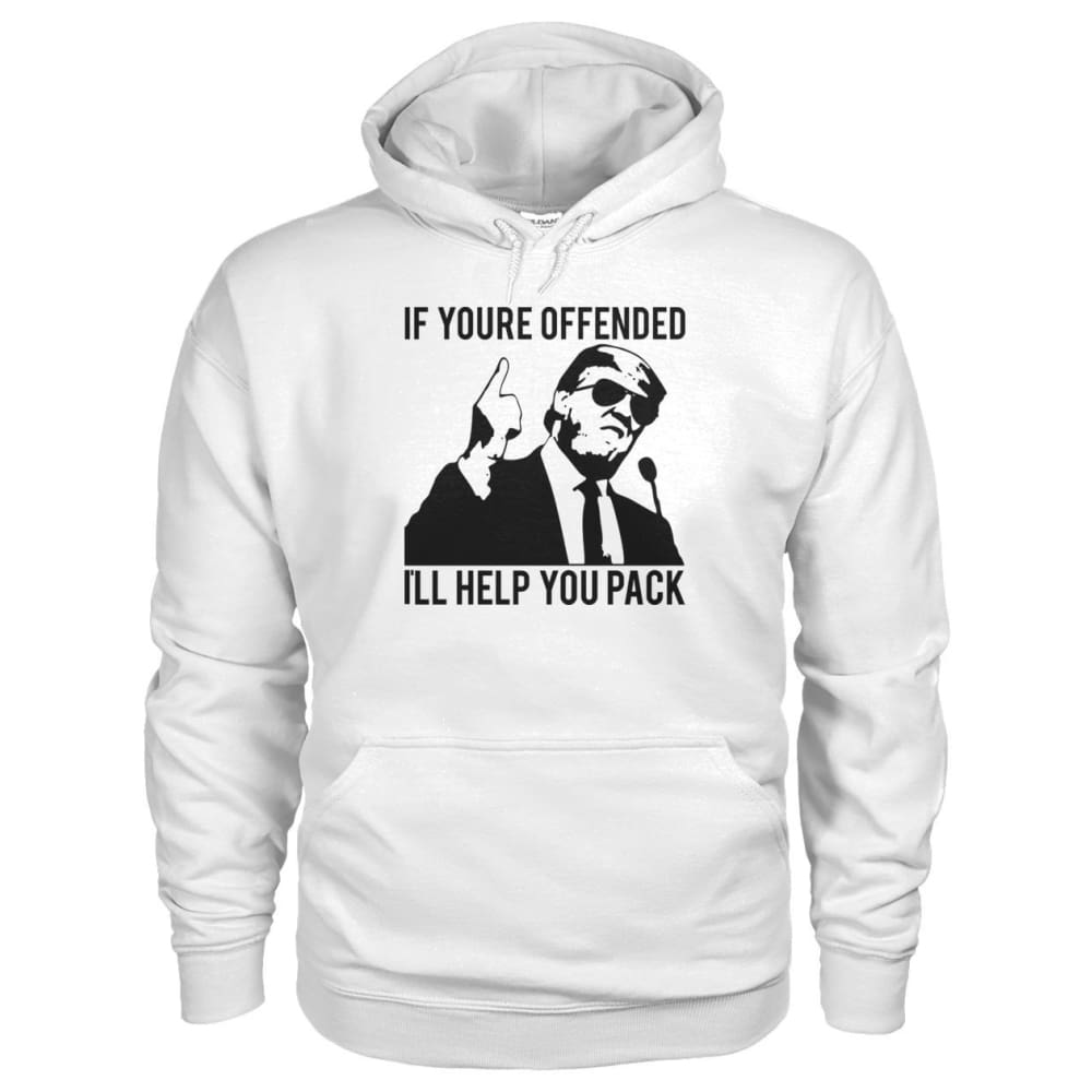 Ill Help You Pack Trump Hoodie - White / S - Hoodies