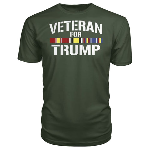 Image of Iraq Veteran For Trump - City Green / S / Premium Unisex Tee - Short Sleeves