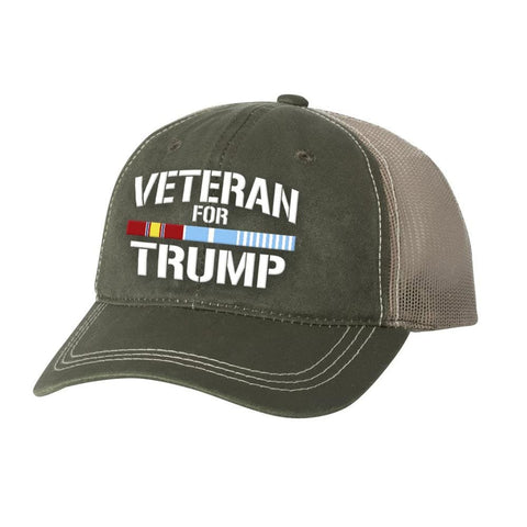 Korean Veteran For Trump Weathered Hat - Olive - Hats