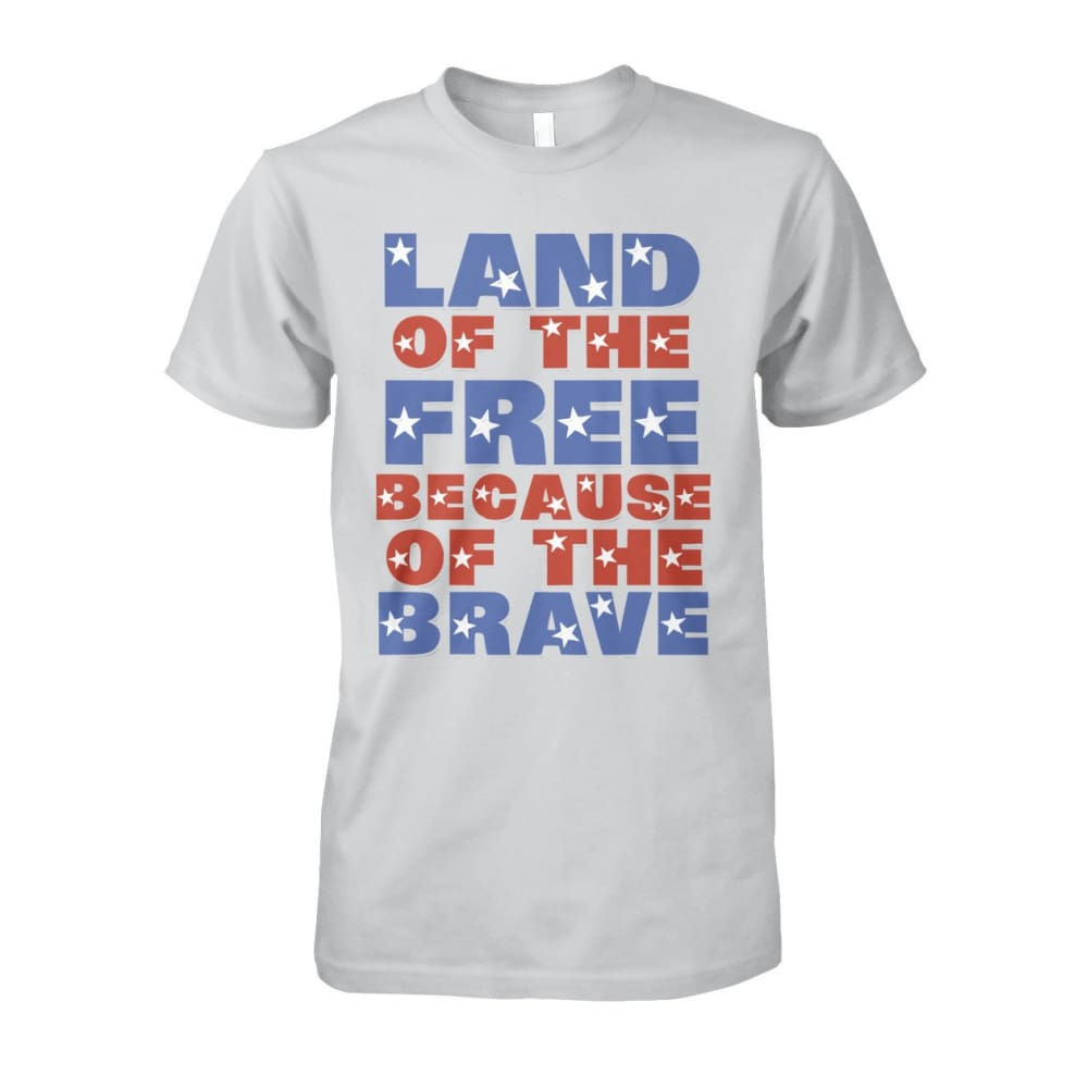 Land of the Free T-Shirt - Ash Grey / S