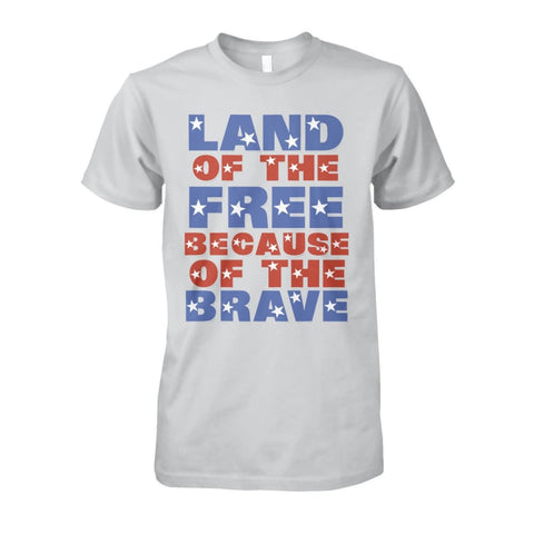 Image of Land of the Free T-Shirt - Ash Grey / S