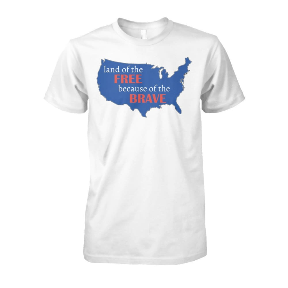 Land of the Free T-Shirt - White / S