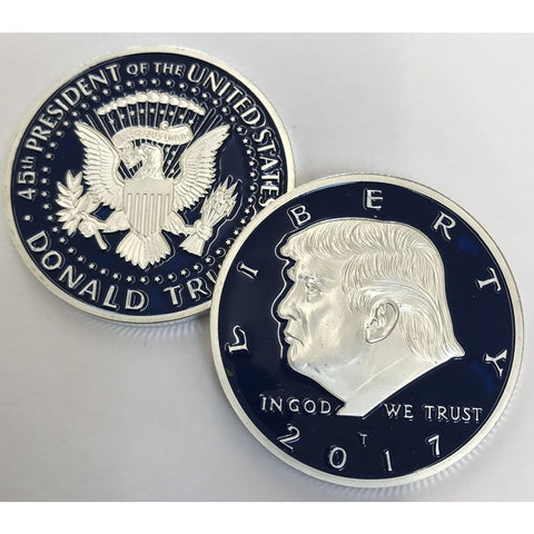 Limited Edition Blue/Silver 2017 President Donald Trump Commemorative Coin