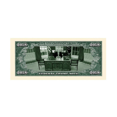 Image of Limited Edition Donald Trump 2018 Federal Trump Presidential Dollar Bill