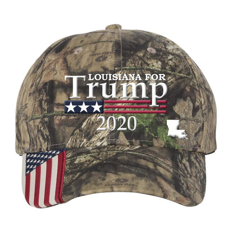 Image of Louisiana For Trump 2020 Hat - Mossy Oak Country