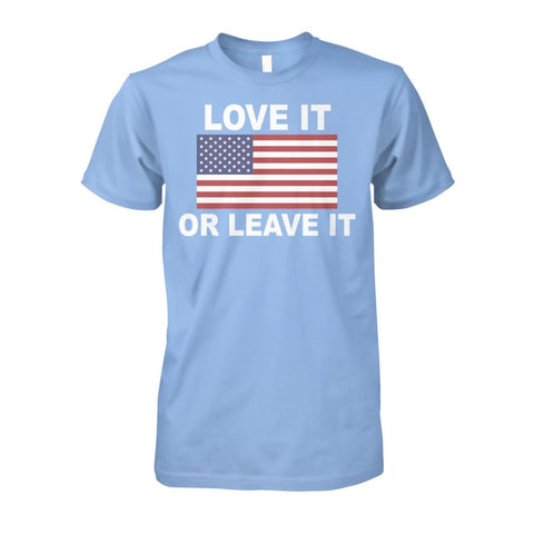Image of Love It Or Leave It T-shirt - Light Blue / S