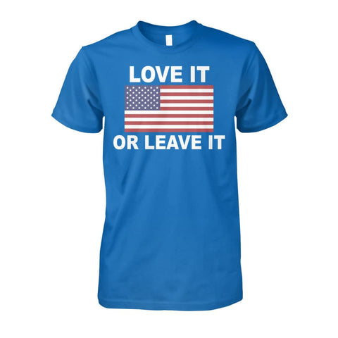 Image of Love It Or Leave It T-shirt - Sapphire / S