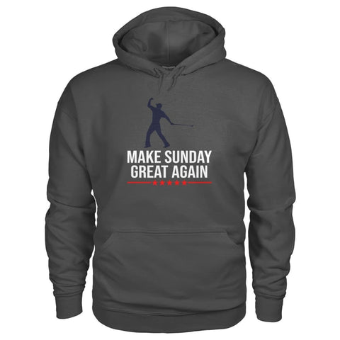 Image of Make Sunday Great Again Hoodie - Charcoal / S - Hoodies
