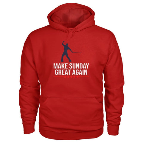 Image of Make Sunday Great Again Hoodie - Cherry Red / S - Hoodies