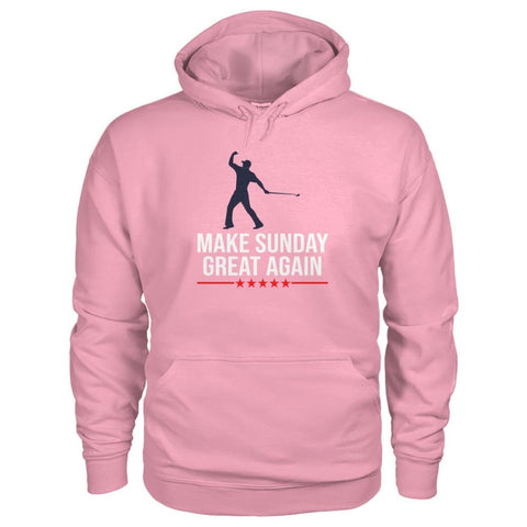 Image of Make Sunday Great Again Hoodie - Classic Pink / S - Hoodies