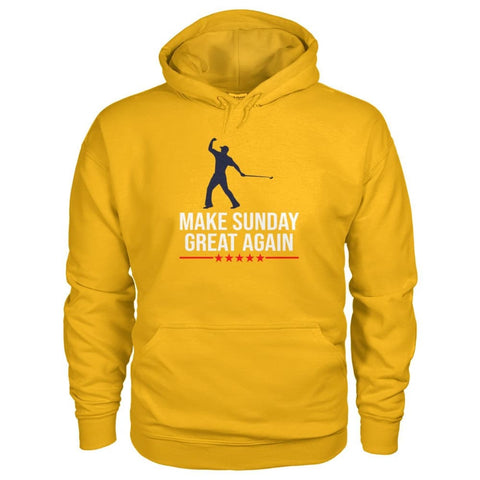 Image of Make Sunday Great Again Hoodie - Gold / S - Hoodies