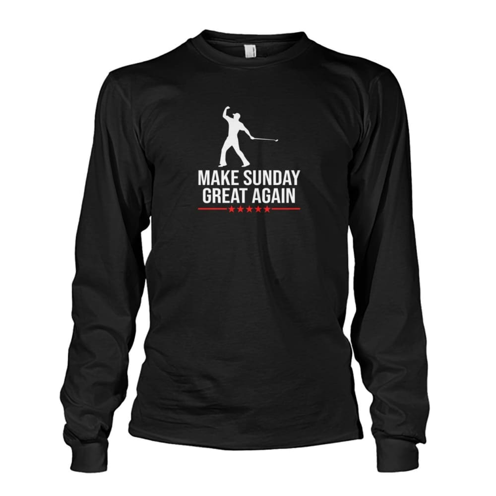 Make Sunday Great Again Long Sleeve - Black / S - Long Sleeves