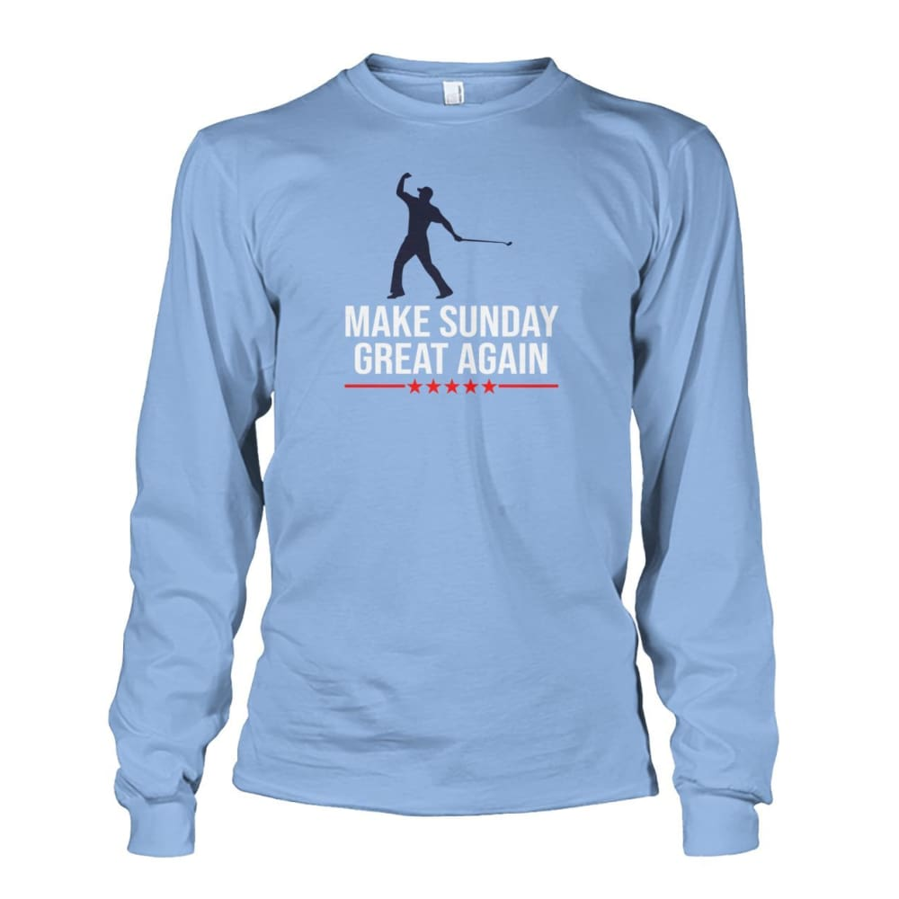 Make Sunday Great Again Long Sleeve - Light Blue / S - Long Sleeves