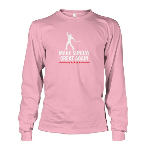 Image of Make Sunday Great Again Long Sleeve - Light Pink / S - Long Sleeves