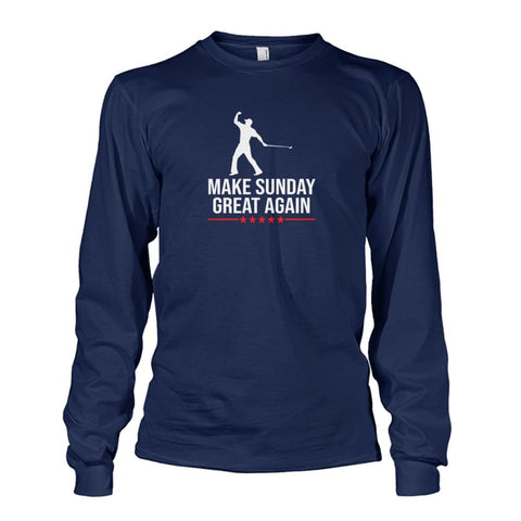 Image of Make Sunday Great Again Long Sleeve - Navy / S - Long Sleeves