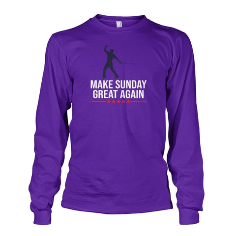Image of Make Sunday Great Again Long Sleeve - Purple / S - Long Sleeves