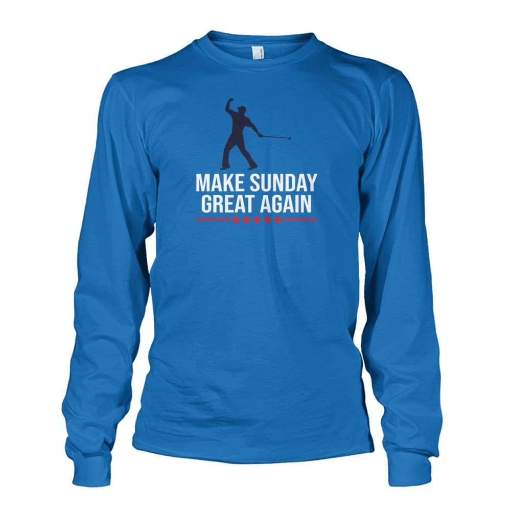 Make Sunday Great Again Long Sleeve - Sapphire / S - Long Sleeves