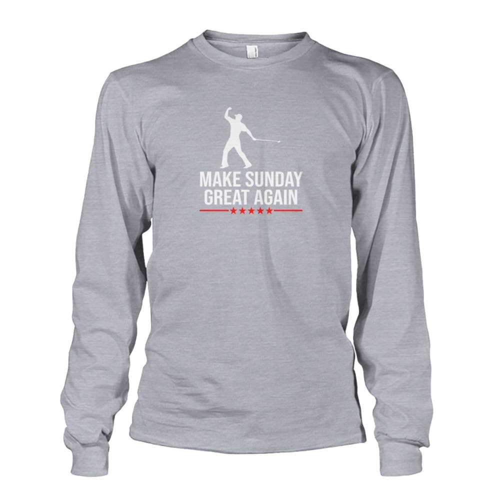 Make Sunday Great Again Long Sleeve - Sports Grey / S - Long Sleeves
