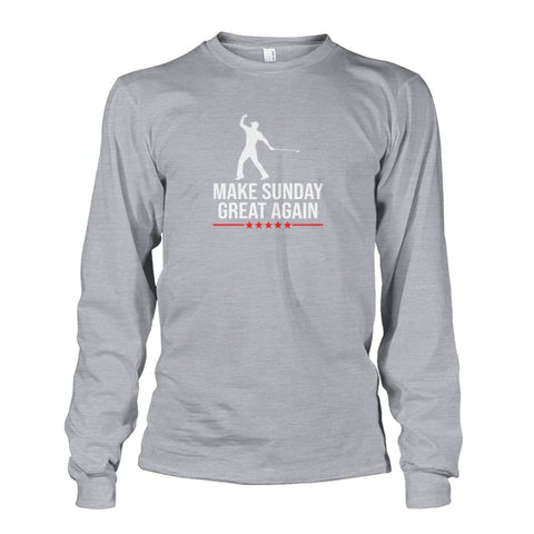 Image of Make Sunday Great Again Long Sleeve - Sports Grey / S - Long Sleeves