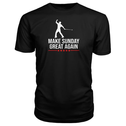 Image of Make Sunday Great Again Premium Tee - Black / S - Short Sleeves