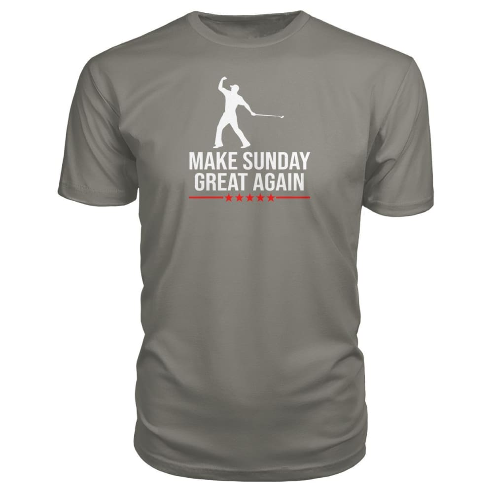 Make Sunday Great Again Premium Tee - Charcoal / S - Short Sleeves