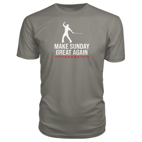Image of Make Sunday Great Again Premium Tee - Charcoal / S - Short Sleeves