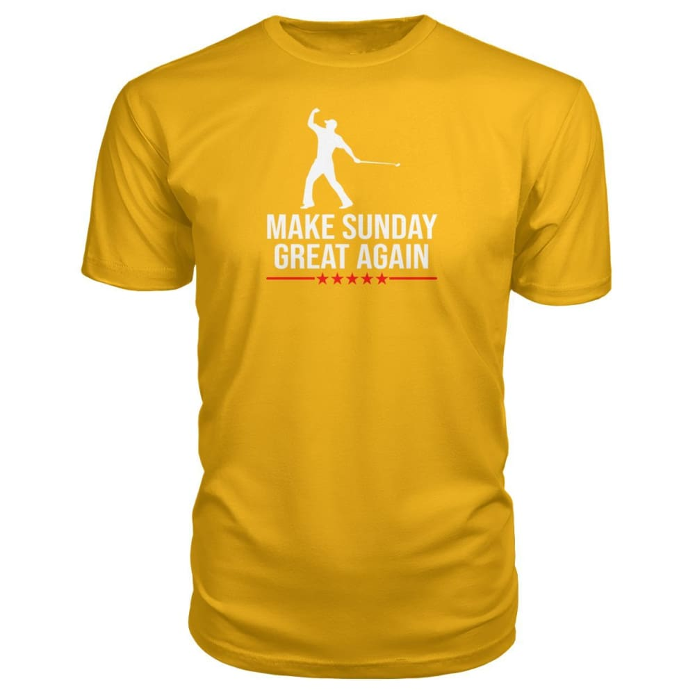 Make Sunday Great Again Premium Tee - Gold / S - Short Sleeves