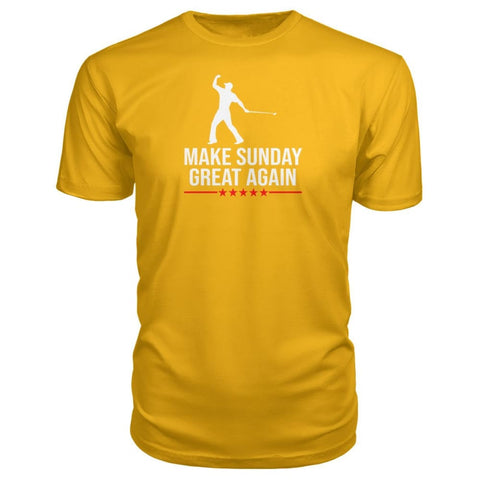 Image of Make Sunday Great Again Premium Tee - Gold / S - Short Sleeves