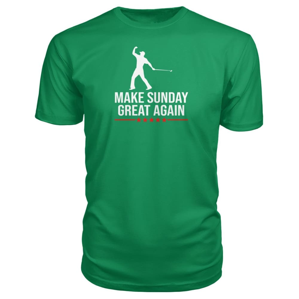 Make Sunday Great Again Premium Tee - Green Apple / S - Short Sleeves