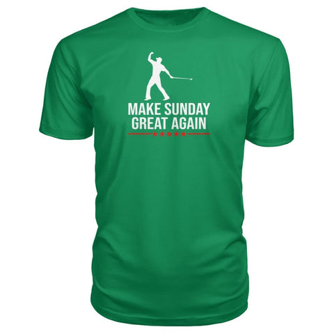 Image of Make Sunday Great Again Premium Tee - Green Apple / S - Short Sleeves