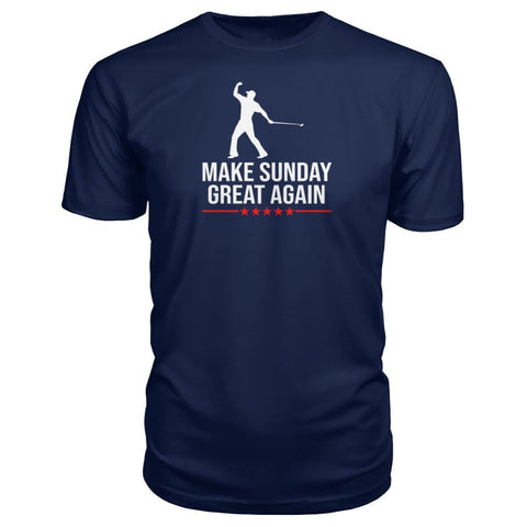 Image of Make Sunday Great Again Premium Tee - Navy / S - Short Sleeves