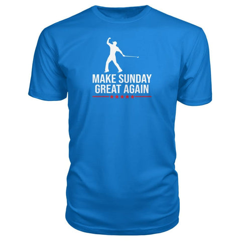 Image of Make Sunday Great Again Premium Tee - Royal Blue / S - Short Sleeves