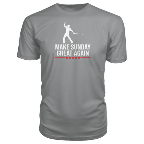 Image of Make Sunday Great Again Premium Tee - Storm Grey / S - Short Sleeves
