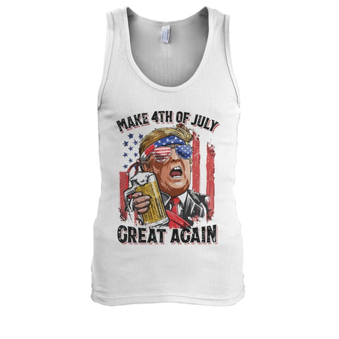 Make The 4th Of July Great Again Tank - White / S / Mens Tank Top - Tank Tops