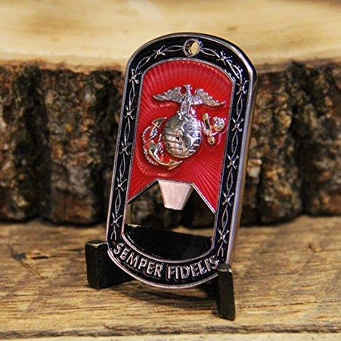 Marine Corps Dog Tag Bottle Opener - Bottle Opener
