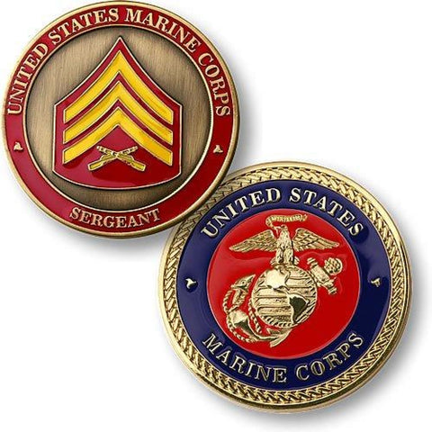 Marine Corps Sergeant Coin