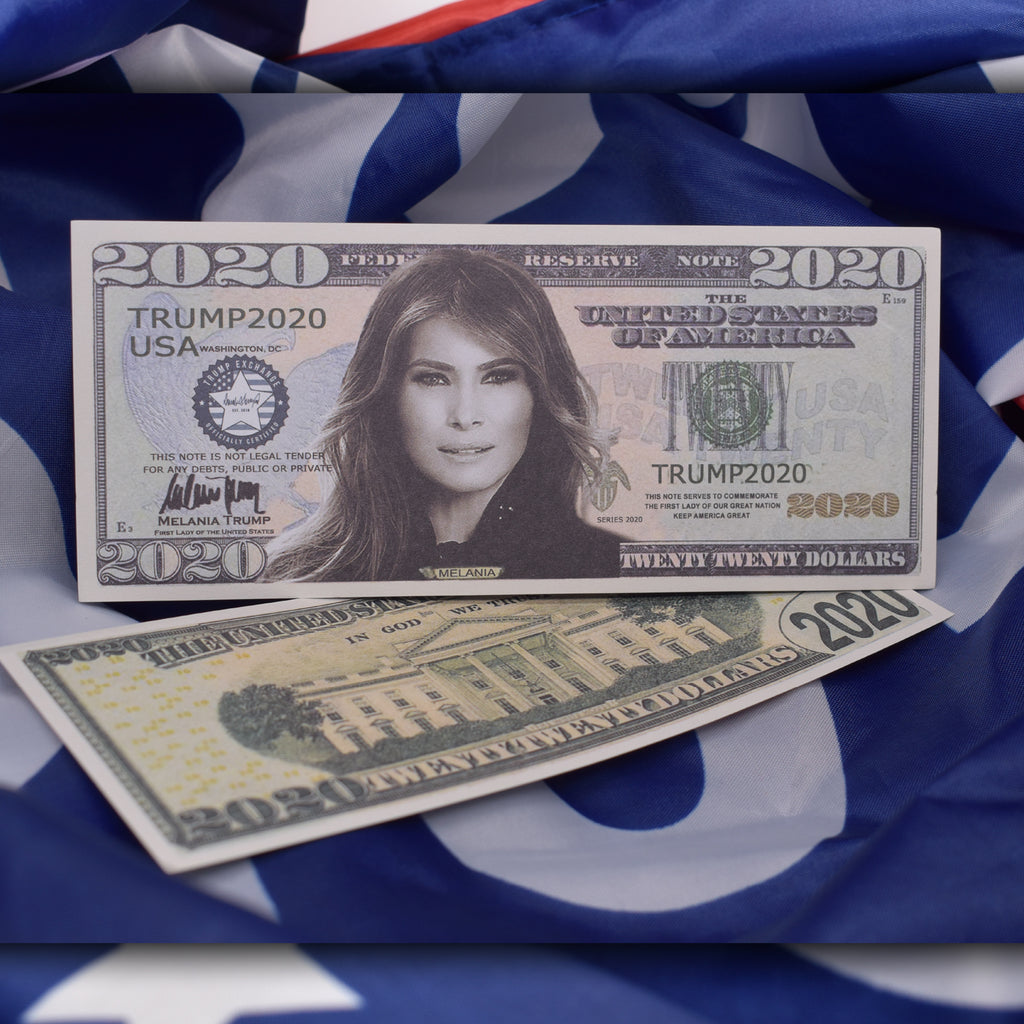 Combo: Melania 2020 Gold Coin AND Bill