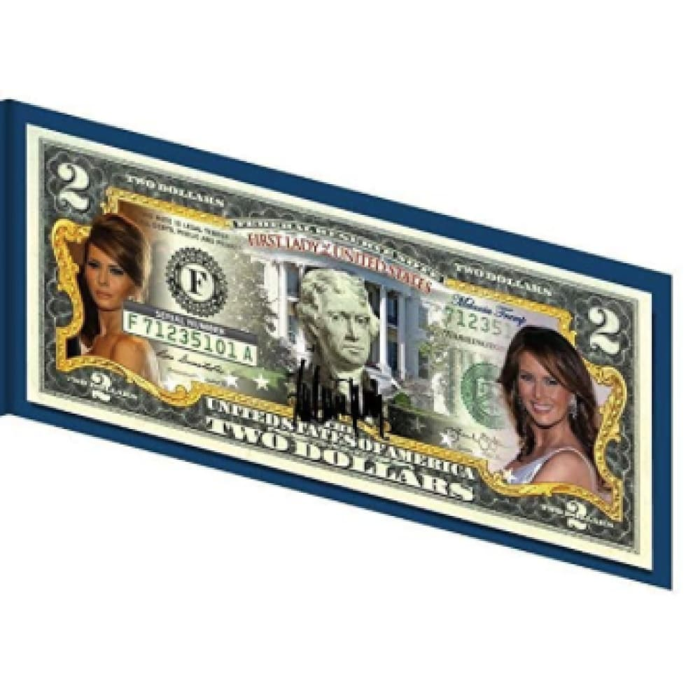 Melania Trump First Lady Genuine LEGAL TENDER US $2 Bill
