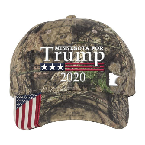 Minnesota For Trump 2020 Hat - Mossy Oak Country