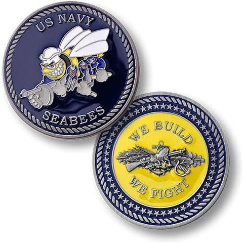 Navy Seabees - Enamel Challenge Coin - Coin