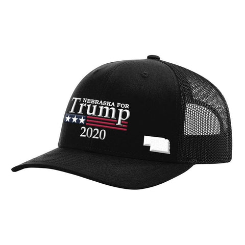 Image of Nebraska For Trump 2020 Hat - Black Hat