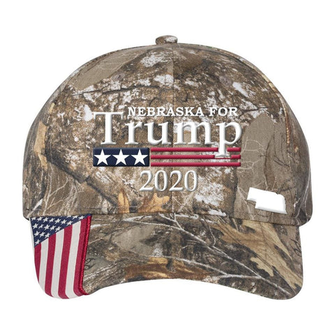 Image of Nebraska For Trump 2020 Hat - Realtree Edge