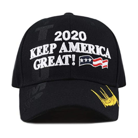 New! 2020 Keep America Great 3D Cap With Trump Signature (Color Choices) - Black