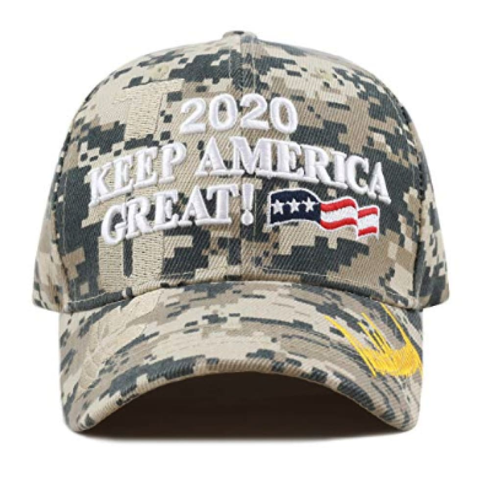 New! 2020 Keep America Great 3D Cap With Trump Signature (Color Choices) - Camo