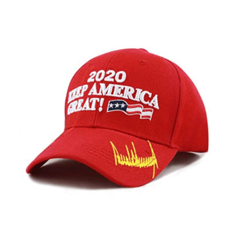Image of New! 2020 Keep America Great 3D Cap With Trump Signature (Color Choices)