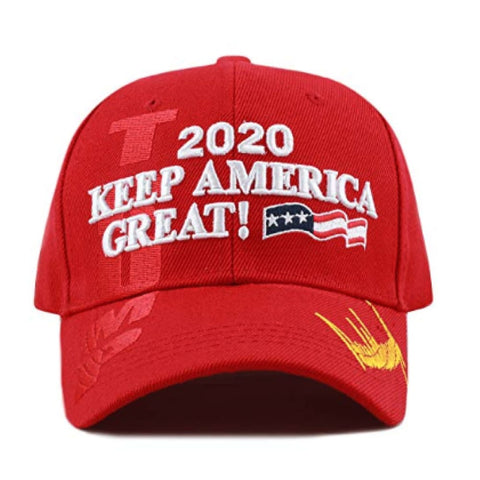 Image of New! 2020 Keep America Great 3D Cap With Trump Signature (Color Choices) - Red
