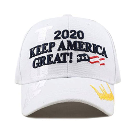 Image of New! 2020 Keep America Great 3D Cap With Trump Signature (Color Choices) - White